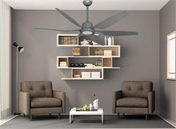 66 inch Titan II Brushed Nickel Large Ceiling Fan