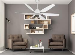 66 inch Titan II Pure White Ceiling Fan with Contoured Blades