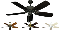 52 inch Atlantis Outdoor Ceiling Fan Arbor 425 - Hand Crafted Blades