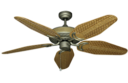 Antlantis in Antique Bronze with 52 outdoo tan weave blades