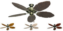 52 inch Bimini Breeze Tropical Ceiling Fan - Leaf Arbor 125 Blades