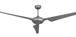 Ion 76 inch Brushed Nickel Ceiling Fan by TroposAir
