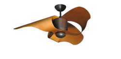 TroposAir The L.A. 44in. Indoor/Outdoor Oil Rubbed Bronze Ceiling Fan