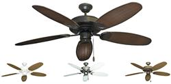 Gulf Coast - Raindance Outdoor Tropical Ceiling Fan with 52