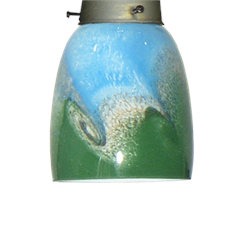 063 Blue Green Wave Glass