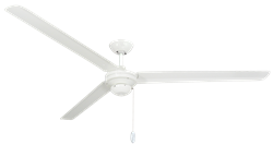 72 inch Tornado Pure White Ceiling Fan by TroposAir