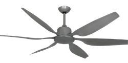66 inch Titan II Brushed Nickel Ceiling Fan