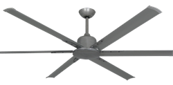 72 inch Titan II Brushed Nickel Ceiling Fan