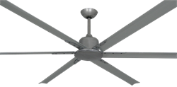 84 inch Titan II Brushed Nickel Ceiling Fan
