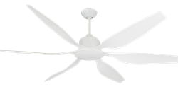 66 inch Titan II Pure White Ceiling Fan