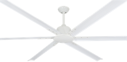 84 inch Titan II Pure White Ceiling Fan