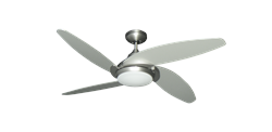 Tuscan 52 inch Ceiling Fan in Satin Steel